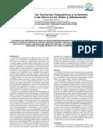 Relación entre los Trastornos Psiquiátricos y la Anemia por Deficiencia de Hierro en los Niños y Adolescentes