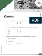 Álgebra - Taller 02 (Cpech 2016)