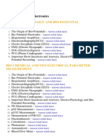 Medical Electronics - Lecture Notes, Study Material and Important Questions, Answers