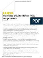 Guidelines Provide Offshore HVAC Design Criteria - Oil & Gas Journal