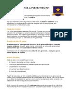 GUÍA DIDÁCTICA DE LA GENEROSIDAD