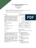 MECÂNICA 1 - Medição de Comprimentos 1 e 2 M 1 - 2-1