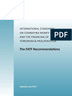 FATF Recommendations 2012 (Update 2017)