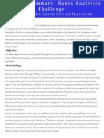 executive summary  hanes analytics challenge