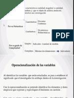 Operecionalizacion de Variables