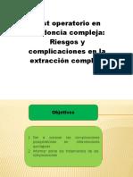 Cuidado Post Operatorio de Exodoncia Compleja