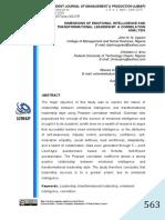 Ugoani, J. N. N., Amu, C. U., & Kalu, E. O. (2015). Dimensions of emotional intelligence and transformational leadership A correlation analysis..pdf