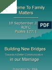 Family Matters Presentation Sept