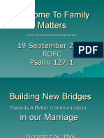 Family Matters Presentation Sept