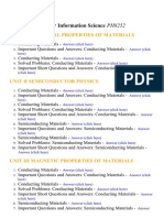 Physics for Information Science - Lecture Notes, Study Material and Important Questions, Answers