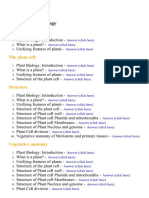 Plant Biology - Lecture Notes, Study Material and Important Questions, Answers