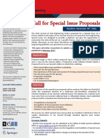 2017 Call for Special Issue Proposals
