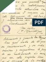 Tarjeta de Mariategui a Unamuno