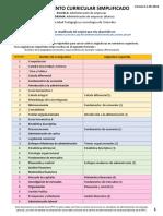 Malla curricular administración de empresas UPTC (DIURNO) - Lineamiento Curricular Simplificado