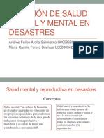 Atención de Salud Sexual y Mental en Desastres