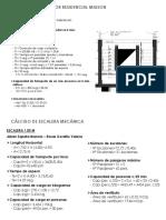 Cálculo Ascensor, Plataforma, Aire Acondicionado