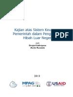 Kajian Sistem Keuangan Pemerintah - Pengelolaan Hibah Luar Negeri