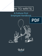 How to Write a Culture First Employee Handbook