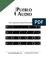 Puebloaudio Ps34 Users Manual