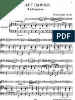 Elgar Edward Salut 039 Amour Liebesgruss Piano Score Transposed Major 5478 21031