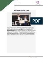 Sigillo Ateneo di Urbino a Paolo Fresu - Ansa.it, 2 maggio 2018