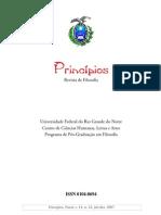 Revista Princípios,  Vol. 14, número 22, 2007