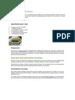 Aderezo Verde Canario de Cilantro