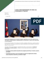 ETA Anuncia en Una Carta El Desmantelamiento de Todas Sus Estructuras y Da Por Terminada Su _función_ - BBC Mundo
