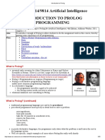 Introduction to Prolog