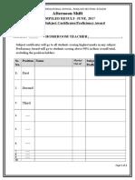 Assessment Mark List