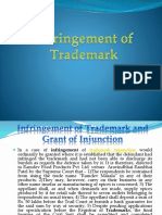 Infringement of Trademark