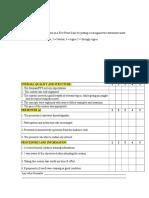 QS Evaluation Form