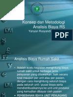 konsep dan metodologi analisis biaya RS