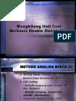 menghitung unit cost berbasis double distribution