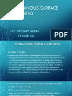 Bituminous Surface Dressing