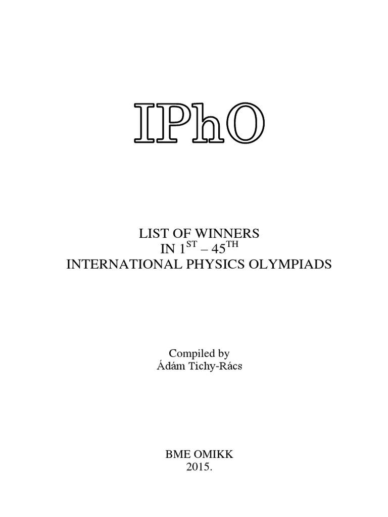 Ipho Winners 45