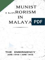 Communist Terrorism in Malaysia