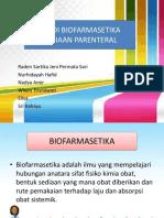 Studi Biofarmasetika Sediaan Parenteral