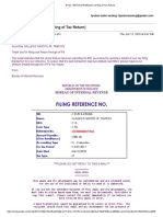 ANNUAL ITR 2017 BIR Email Notification (EFiling of Tax Return)