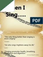 Eshwar Piraji Kalpatri - When I Sing Presentation