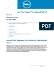 Migrator for Notes to Sharepoint Release Notes 661