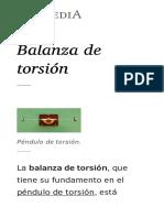 Balanza de Torsión