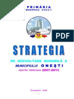 Strategie Dezvoltare Onesti