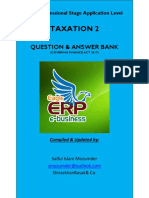Final Draft of Icab Application Level Taxation 2 Syllabus Weight Based Question & Answer Bank Covering Finance Act 2017 (May June 2018 Exam Early Bird Preparation Version