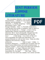 Different Periods of Philippine Literature