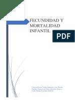 Fecundidad y Mortalidad en La Población Infantil Terminado