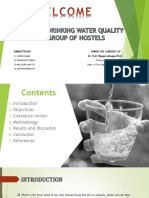 Analysis of Drinking Water Quality Ppt