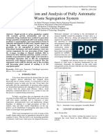 Design, Fabrication and Analysis of Fully Automatic Solid Waste Segregation System