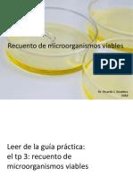 Recuento de Microorganismos Viables
