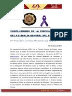 Circula Fiscalia Sobre Actuacion Especializada Del Ministerio Fiscal en VG